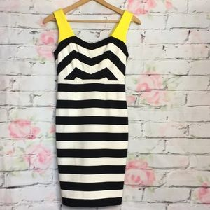 Nue by Shani Black and white striped dress size 4